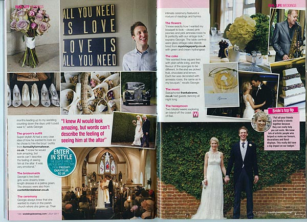 Georgie & Al's Real Life Wedding Feature